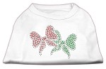 Christmas Bows Rhinestone Shirt White XS (8)